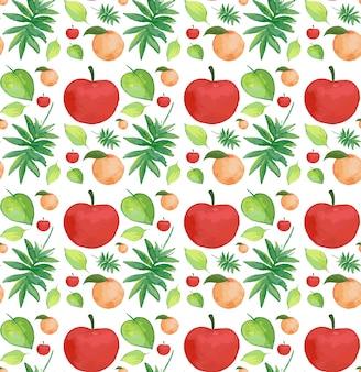 Padrão sem emenda com frutas tropicais