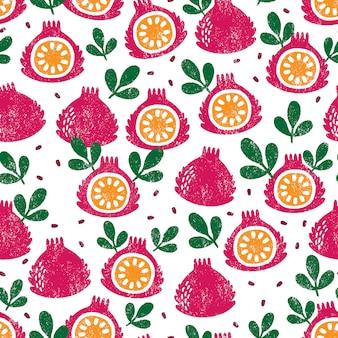 Padrão sem emenda com frutas