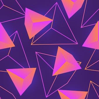 Padrão sem emenda com gemas rosa naturais, cristais minerais ou pedras preciosas e semipreciosas facetadas e seus contornos em fundo roxo. ilustração vetorial para papel de parede, impressão têxtil.