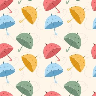 Padrão sem emenda com guarda-chuvas coloridos