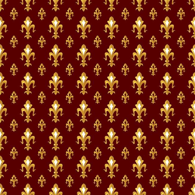Padrão sem emenda com ícones da flor de lis