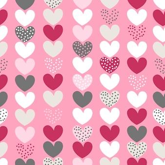 Padrão sem emenda com ilustração de corações