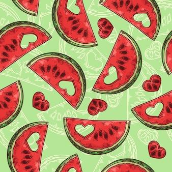 Padrão sem emenda com melancia