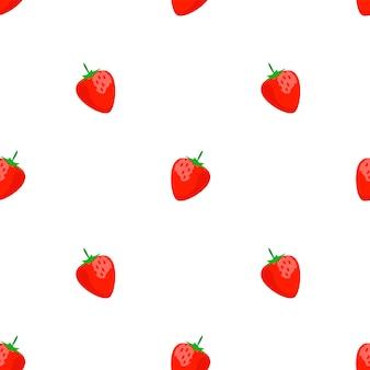 Padrão sem emenda com morangos