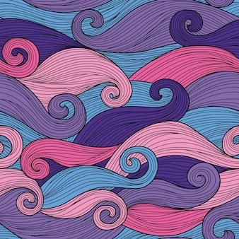 Padrão sem emenda com ondas abstratas