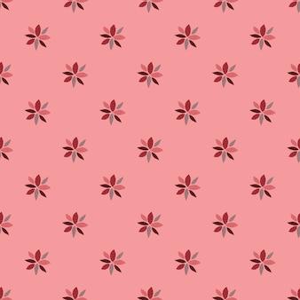 Padrão sem emenda com ornamento de flores geométricas.