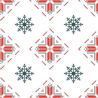 Padrão sem emenda com ornamento tradicional bielorrusso nas cores vermelhas e brancas históricas.