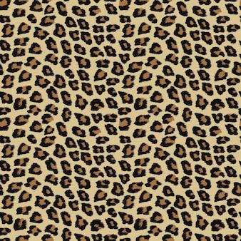 Padrão sem emenda com pele de leopardo.