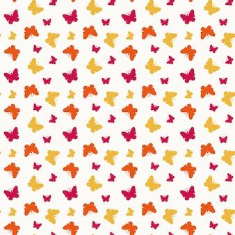 Padrão sem emenda com pequenas borboletas coloridas. ilustração vetorial.
