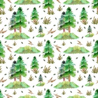 Padrão sem emenda com pinheiros