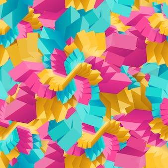 Padrão sem emenda com retângulos decorativos geométricos multicoloridos abstratos