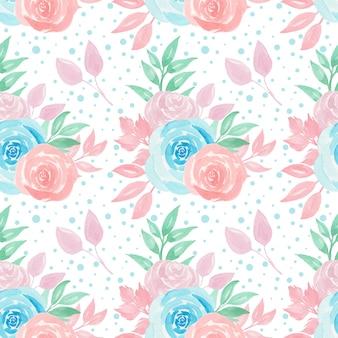 Padrão sem emenda com rosas coloridas