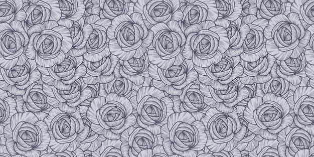 Padrão sem emenda com rosas. romântico
