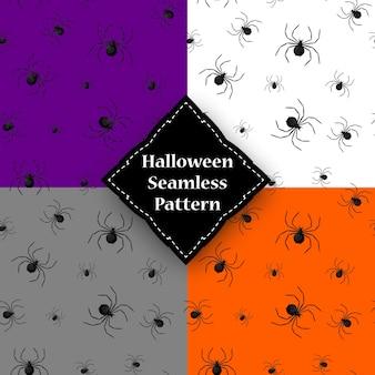 Padrão sem emenda com teia de aranha no dia das bruxas