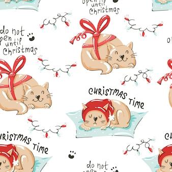 Padrão sem emenda com tema natalino