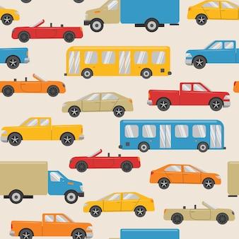 Padrão sem emenda com transporte urbano