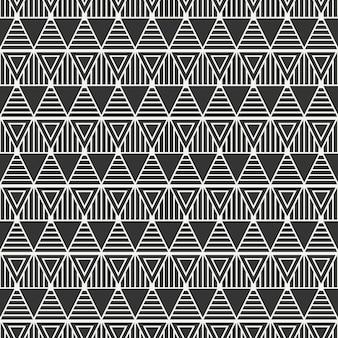 Padrão sem emenda com triângulos