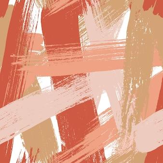 Padrão sem emenda criativo de vetor abstrato com pinceladas fundo colorido para impressão