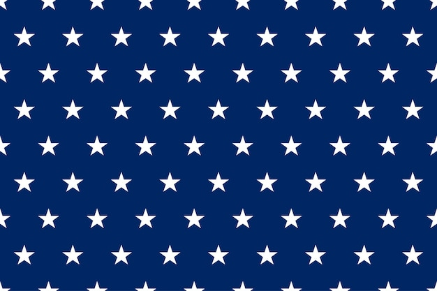 Padrão sem emenda da bandeira azul patriótica dos eua com estrelas