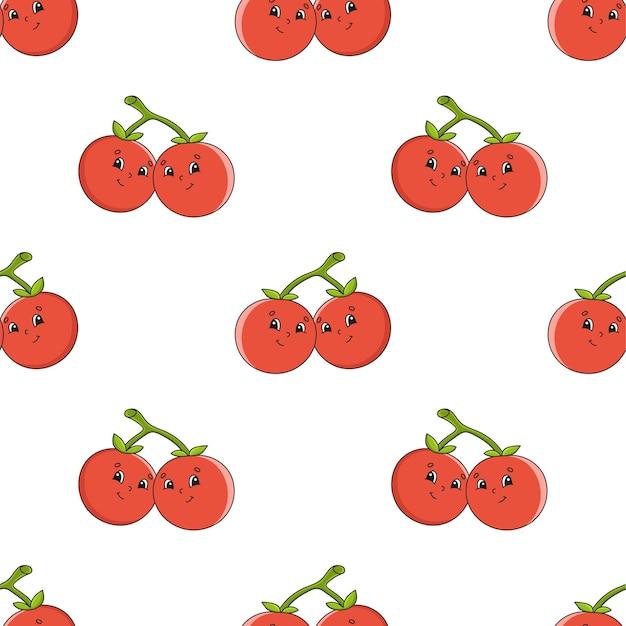 Padrão sem emenda da fruta cereja.