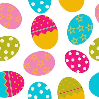 Padrão sem emenda da páscoa de vetor com fundo de ovos. eps10