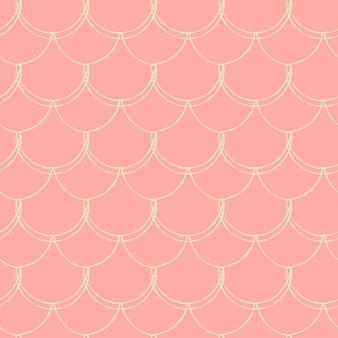 Padrão sem emenda da pequena sereia. textura de pele de peixe. fundo lavável para tecido de menina, design têxtil, papel de embrulho, roupa de banho ou papel de parede. fundo azul pequena sereia com escama de peixe.