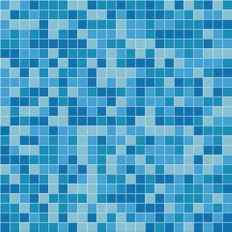 Padrão sem emenda da telha da piscina, fundo do mosaico azul.
