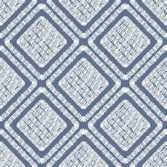 Padrão sem emenda da telha geométrica de bordado abstrato. ornamento de retalhos. a telha dá forma ao pano de fundo. ilustração em vetor desenhada à mão