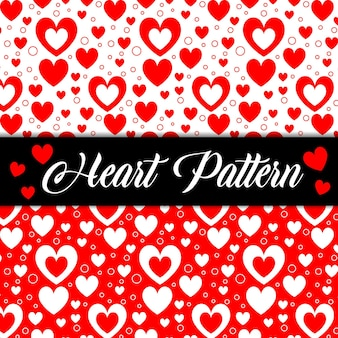 Padrão sem emenda da textura dos namorados com corações românticos