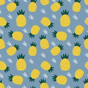 Padrão sem emenda de abacaxi engraçado