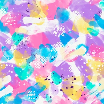 padrão sem emenda de aquarela abstrata de cores vivas