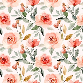 Padrão sem emenda de aquarela floral flor