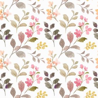 Padrão sem emenda de aquarela floral selvagem