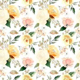 Padrão sem emenda de aquarela floral suave