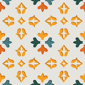 Padrão sem emenda de arabescos ornamentais florais orientais. fundo de estilo de papel com motivo oriental
