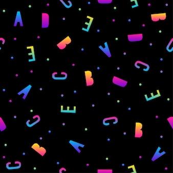 Padrão sem emenda de arco-íris abstrato. amostra de fundo moderna para cartão de aniversário, convite para festa de crianças, papel de parede, papel de embrulho de férias, pôster de venda de loja, impressão de bolsa, camiseta, publicidade de oficina