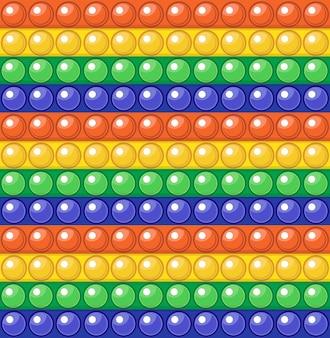 Padrão sem emenda de arco-íris colorido popit fidget brinquedo anti-stress sensorial pop it infinito fundo de impressão de textura.