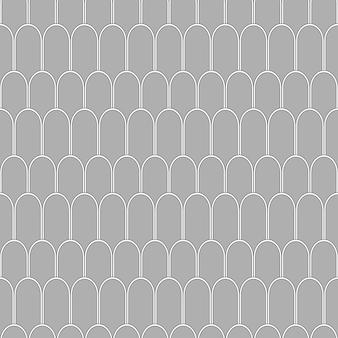 Padrão sem emenda de arcos cinzentos geométricos