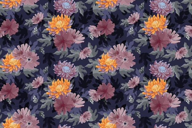 Padrão sem emenda de arte floral vetor