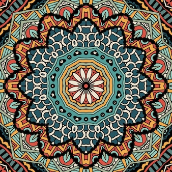 Padrão sem emenda de arte tribal estampa geométrica étnica