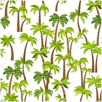Padrão sem emenda de árvores de palma
