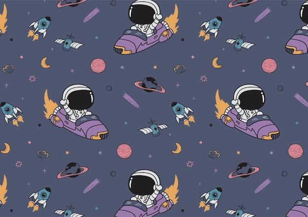 Padrão sem emenda de aventura espacial