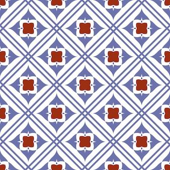 Padrão sem emenda de azulejo bonito