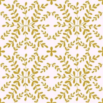 Padrão sem emenda de azulejo flor de portugal fundo geométrico floral dourado ornamento de azulejo tradicional