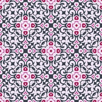 Padrão sem emenda de azulejos étnicos geométricos coloridos abstratos ornamentais para tecido e papel de parede