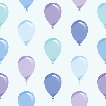 Padrão sem emenda de balões de ar azul