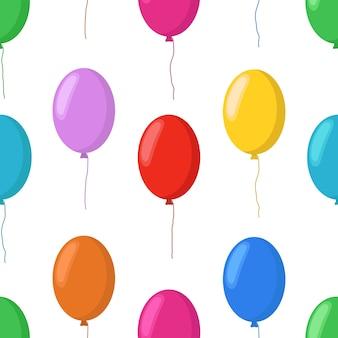Padrão sem emenda de balões de desenhos animados, elementos de festa