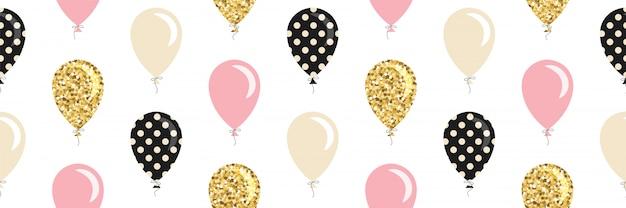 Padrão sem emenda de balões.
