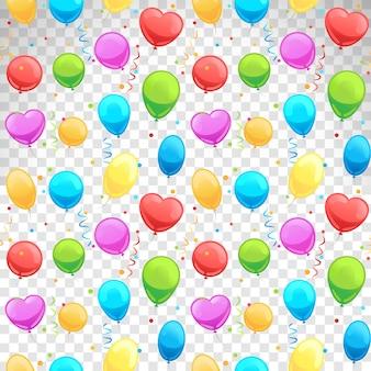 Padrão sem emenda de balões