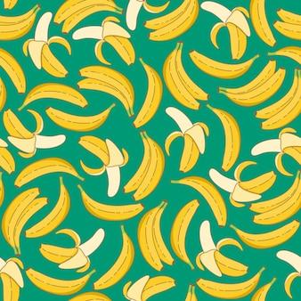 Padrão sem emenda de banana original e na moda.